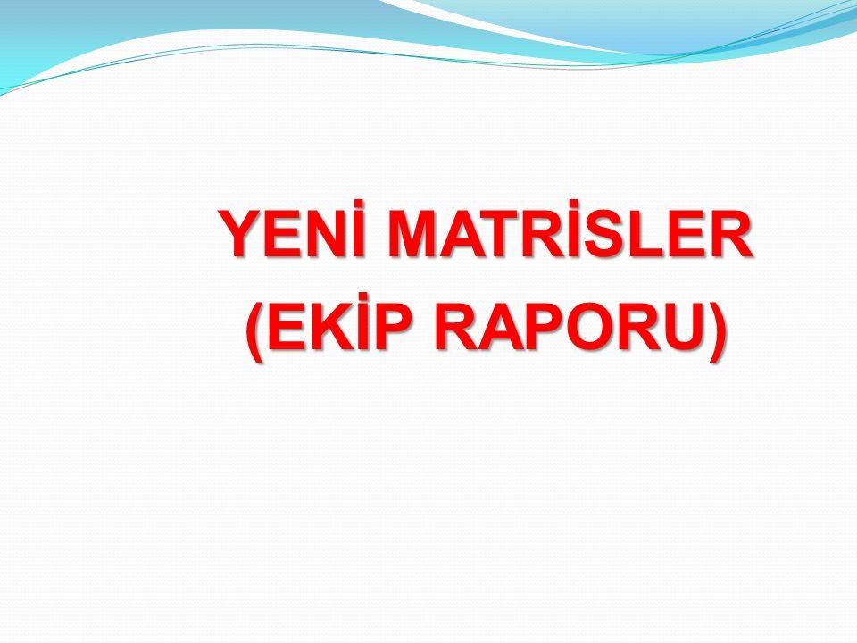 YENİ MATRİSLER (EKİP RAPORU)