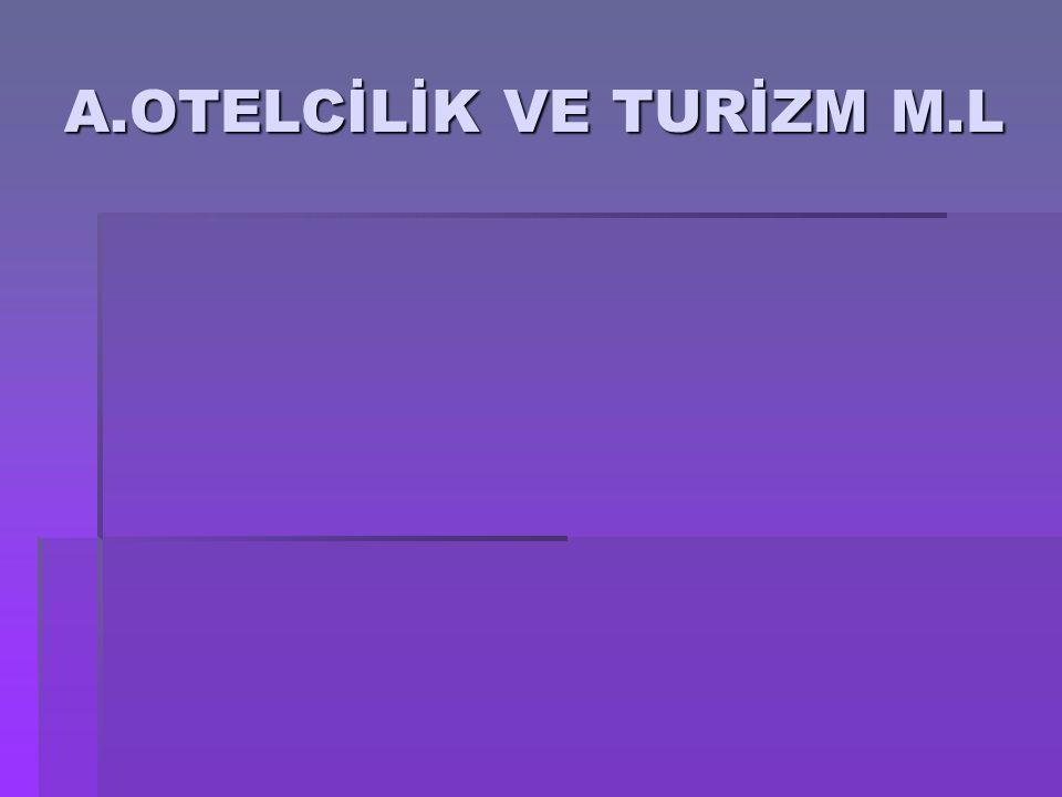 A.OTELCİLİK VE TURİZM M.L