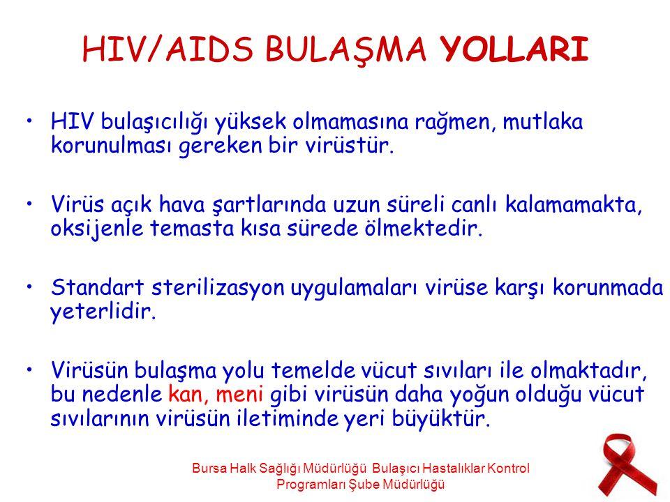 HIV/AIDS BULAŞMA YOLLARI