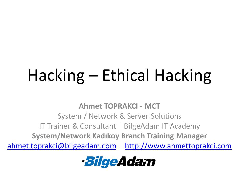 Hacking – Ethical Hacking
