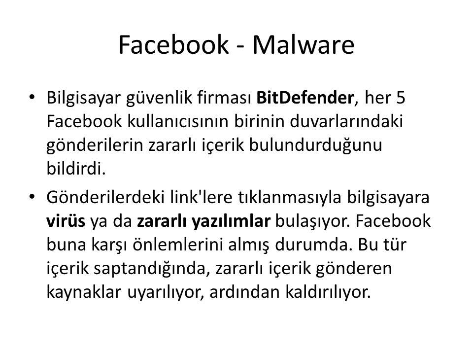 Facebook - Malware