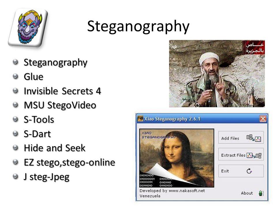 Steganography Steganography Glue Invisible Secrets 4 MSU StegoVideo