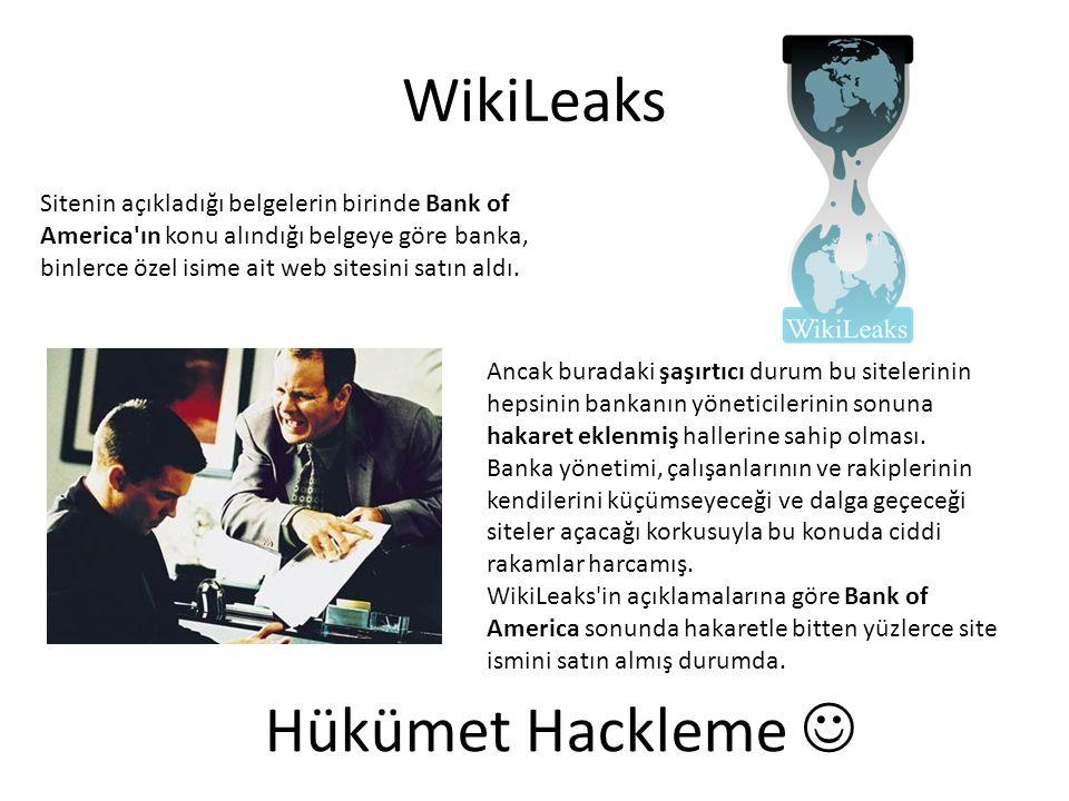WikiLeaks Hükümet Hackleme 