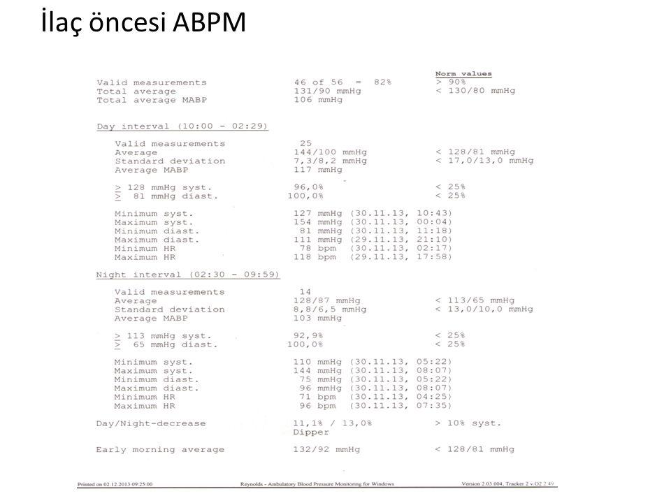 İlaç öncesi ABPM