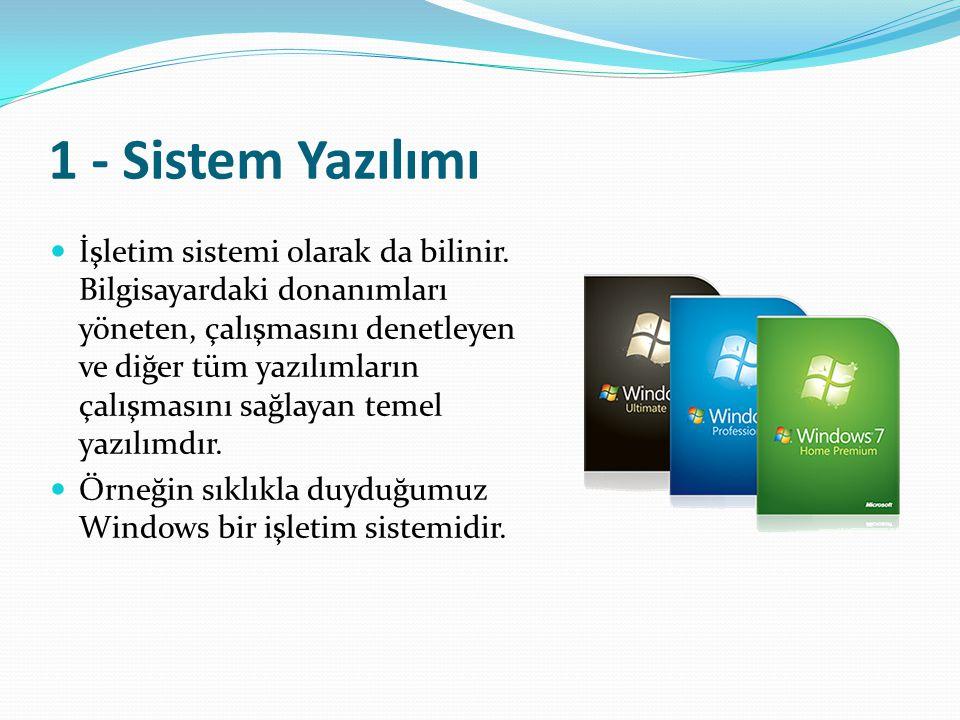 1 - Sistem Yazılımı