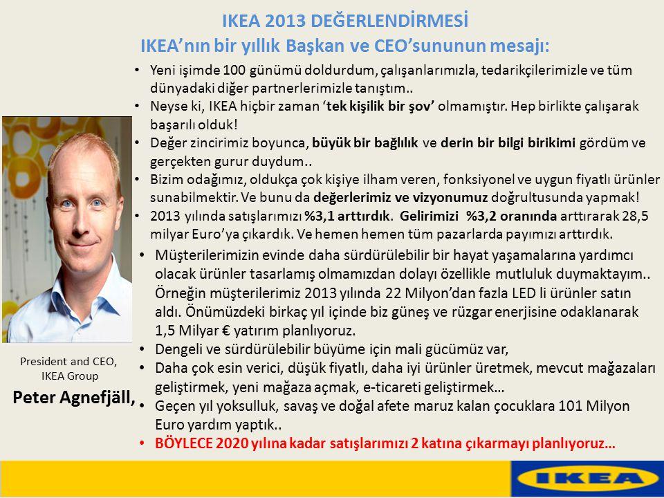 IKEA'nın bir yıllık Başkan ve CEO'sununun mesajı: