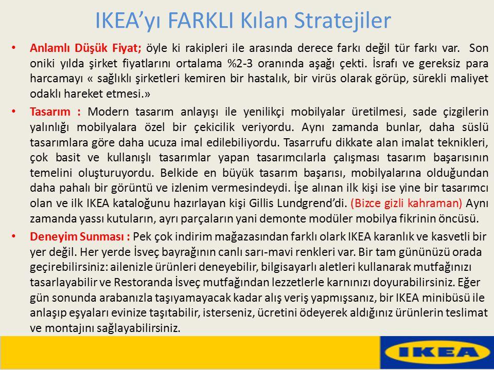 IKEA'yı FARKLI Kılan Stratejiler