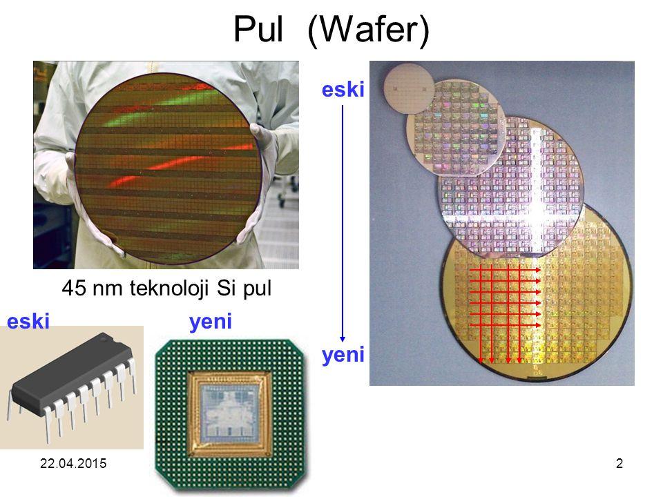 Pul (Wafer) eski 45 nm teknoloji Si pul eski yeni yeni 13.04.2017