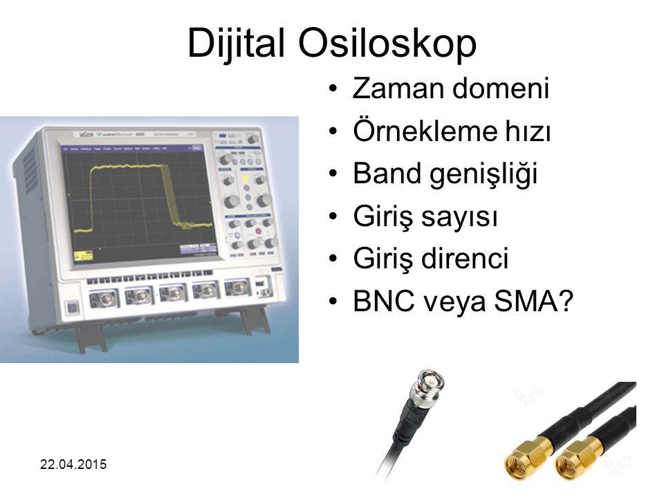 Dijital Osiloskop Zaman domeni Örnekleme hızı Band genişliği