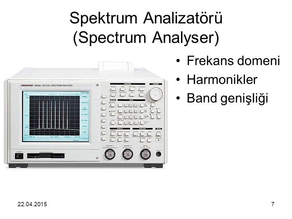 Spektrum Analizatörü (Spectrum Analyser)