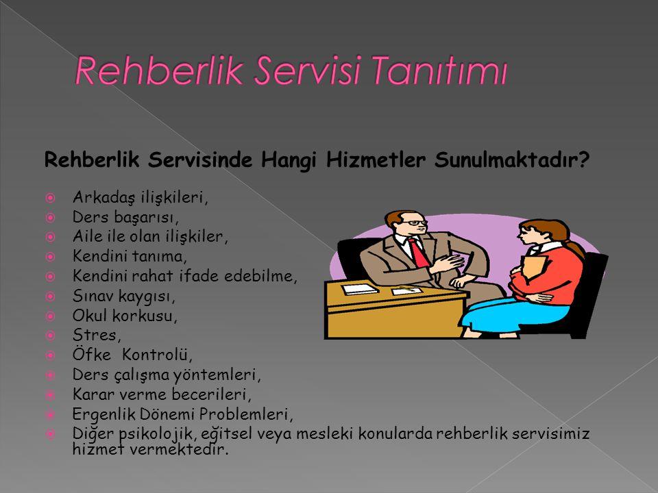Rehberlik Servisi Tanıtımı