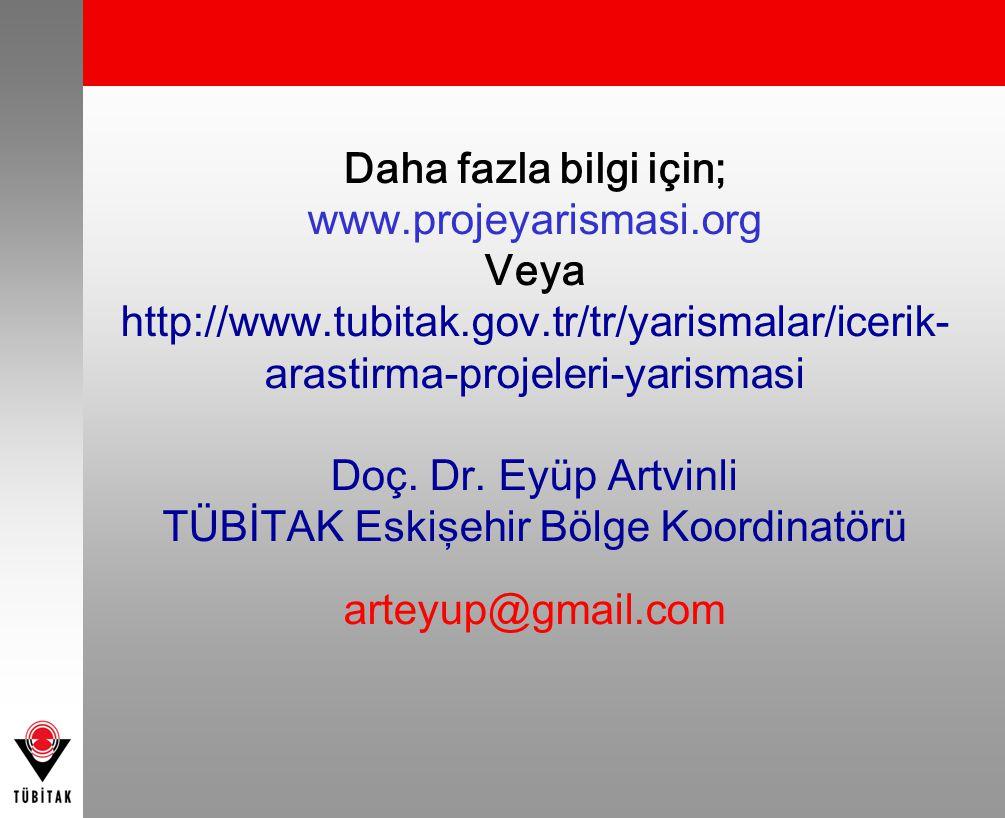 TÜBİTAK Eskişehir Bölge Koordinatörü