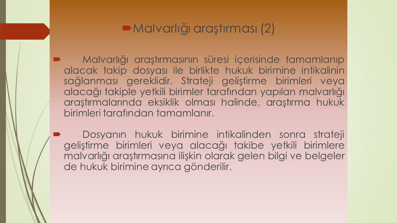 Malvarlığı araştırması (2)