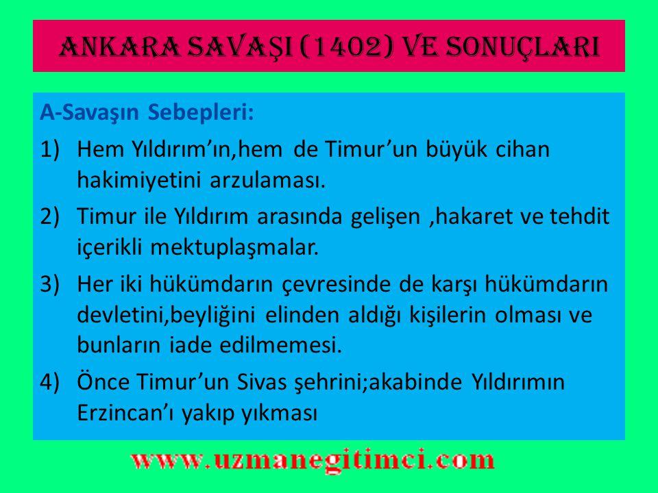 ANKARA SAVAŞI (1402) VE SONUÇLARI