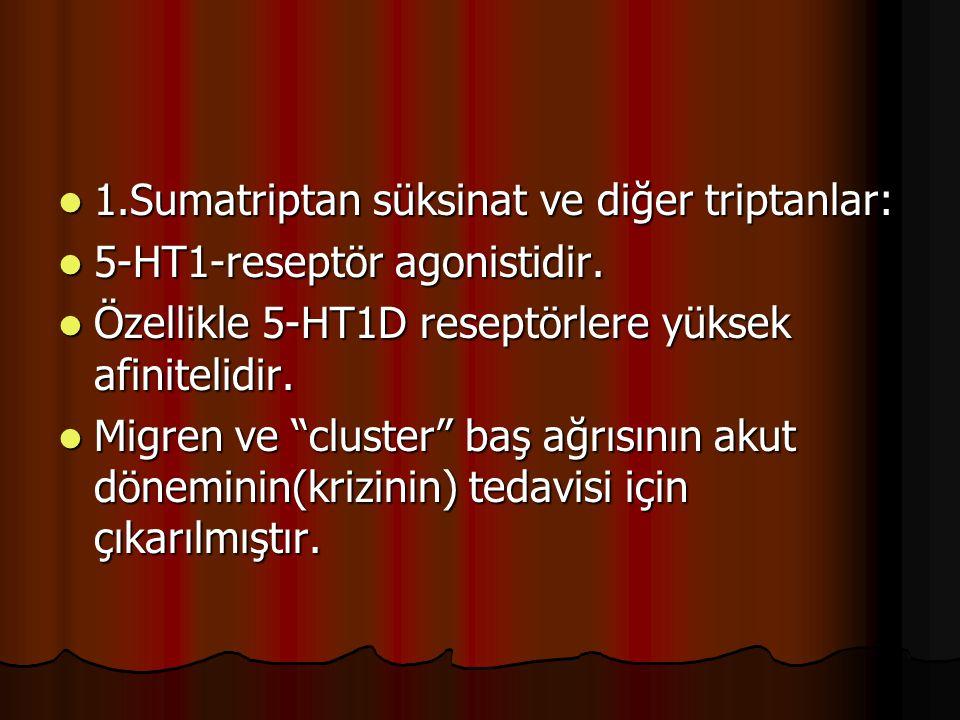 1.Sumatriptan süksinat ve diğer triptanlar: