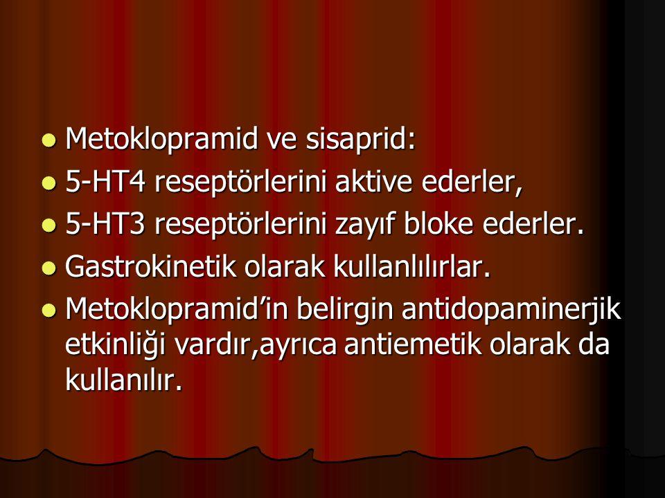 Metoklopramid ve sisaprid: