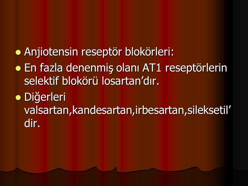 Anjiotensin reseptör blokörleri: