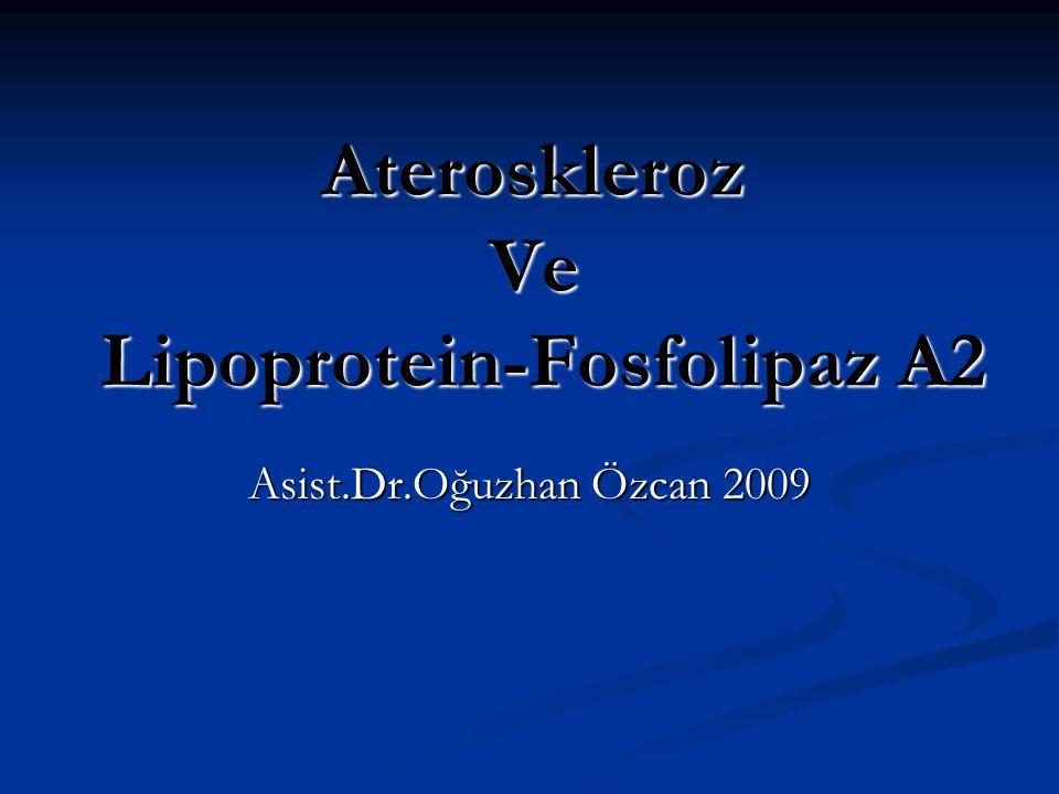 Ateroskleroz Ve Lipoprotein-Fosfolipaz A2