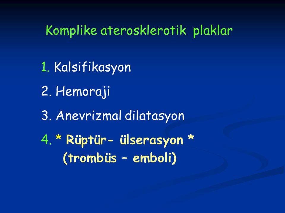 Komplike aterosklerotik plaklar