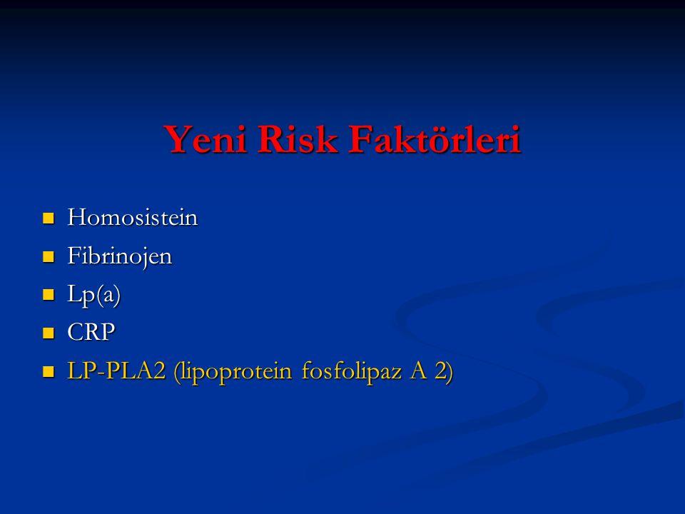 Yeni Risk Faktörleri Homosistein Fibrinojen Lp(a) CRP