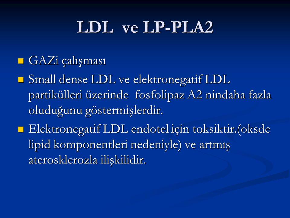 LDL ve LP-PLA2 GAZi çalışması