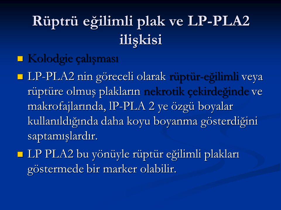 Rüptrü eğilimli plak ve LP-PLA2 ilişkisi