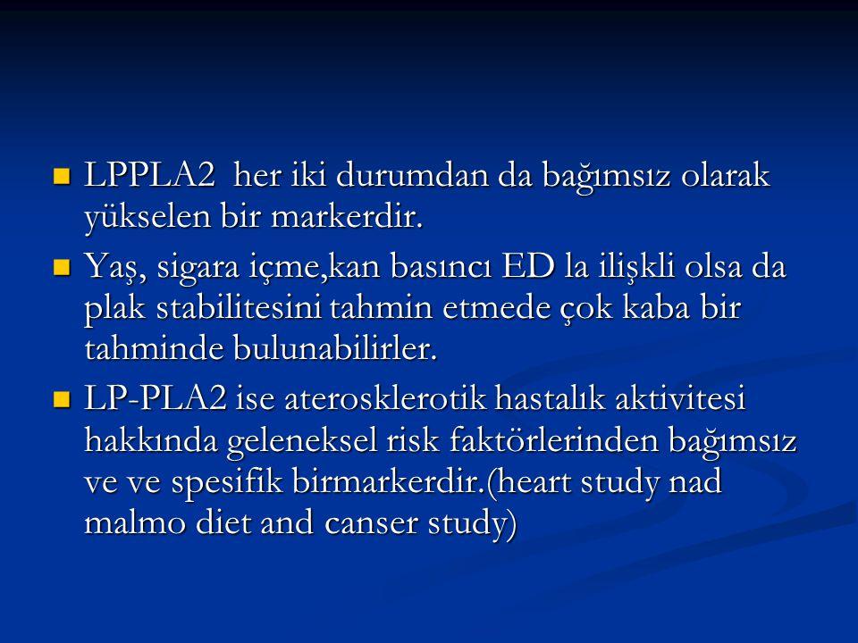 LPPLA2 her iki durumdan da bağımsız olarak yükselen bir markerdir.