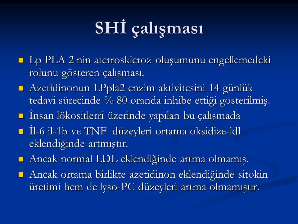 SHİ çalışması Lp PLA 2 nin aterroskleroz oluşumunu engellemedeki rolunu gösteren çalışması.