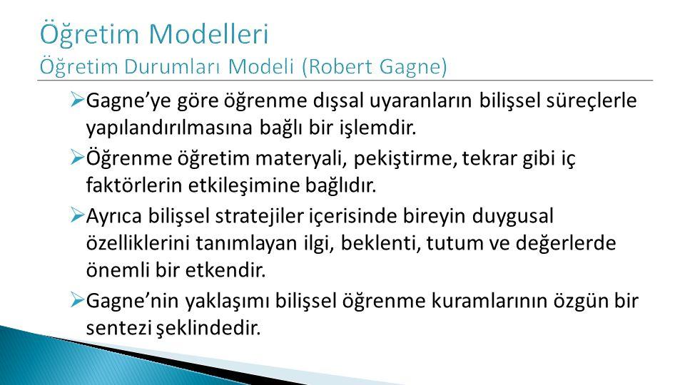 Öğretim Modelleri Öğretim Durumları Modeli (Robert Gagne)
