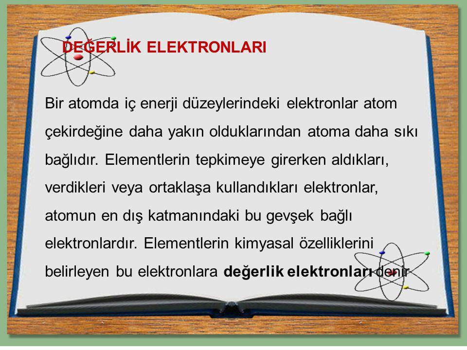 DEĞERLİK ELEKTRONLARI