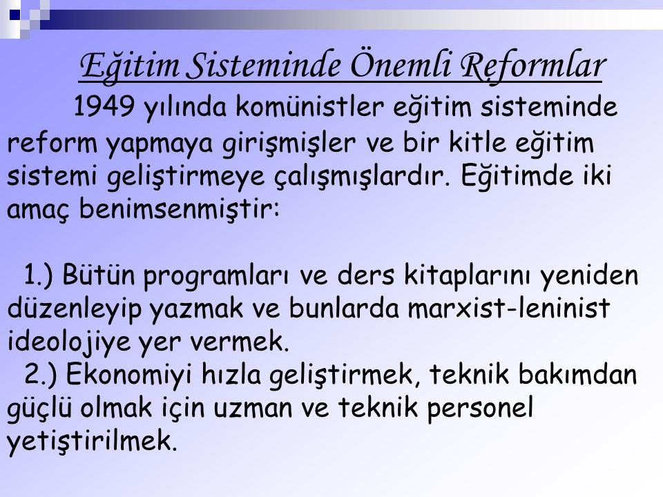 Eğitim Sisteminde Önemli Reformlar