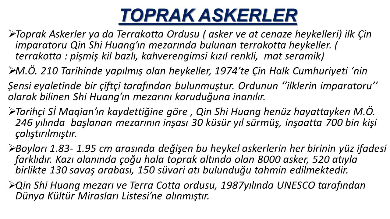 TOPRAK ASKERLER