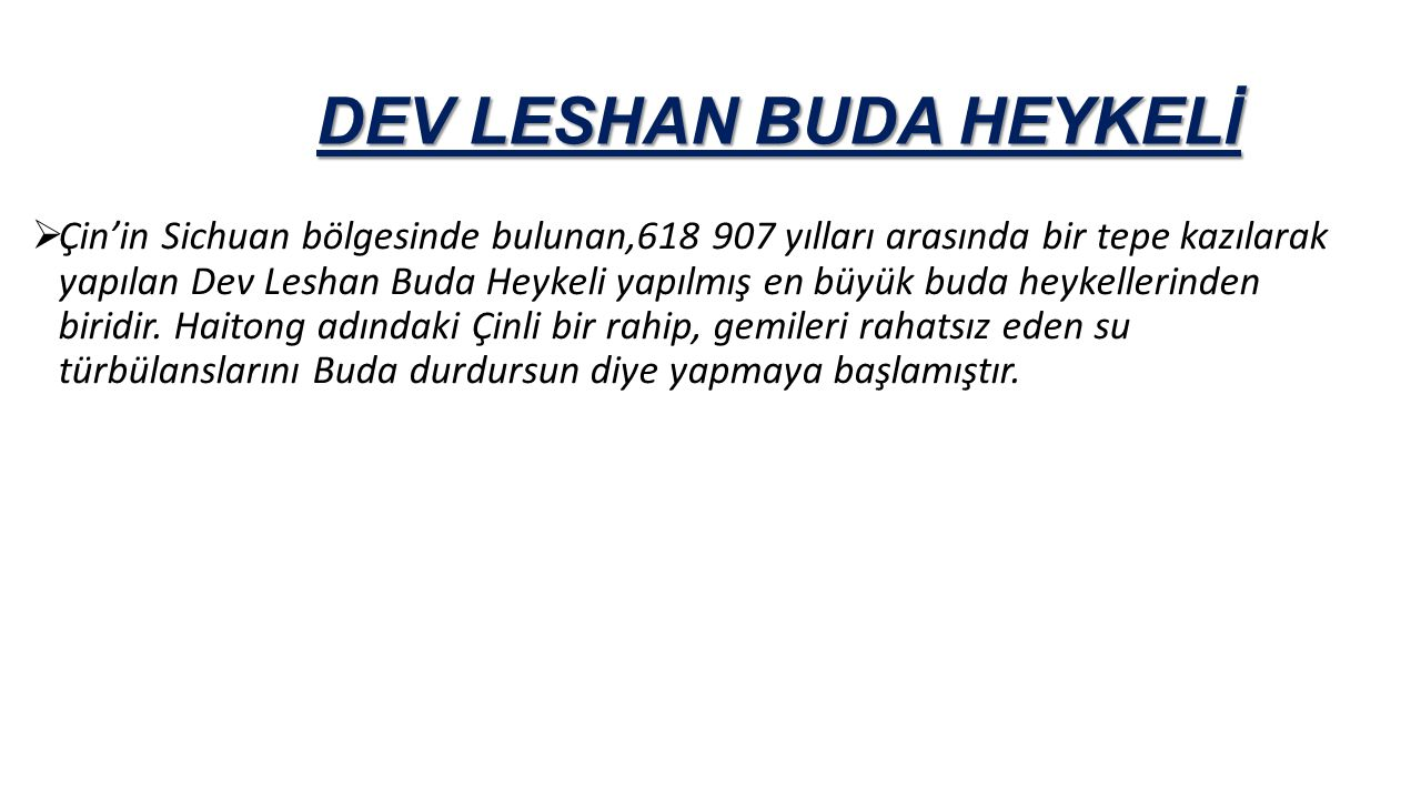 DEV LESHAN BUDA HEYKELİ