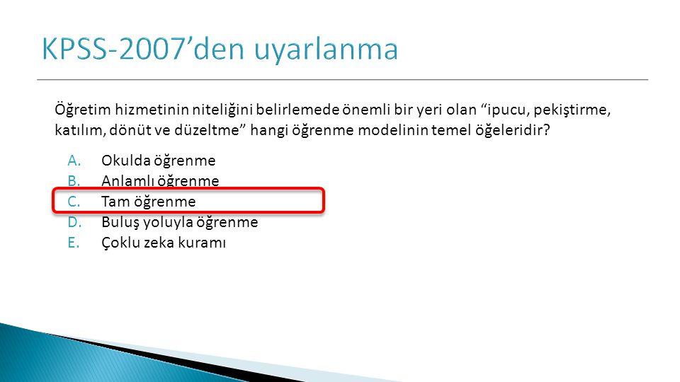 KPSS-2007'den uyarlanma