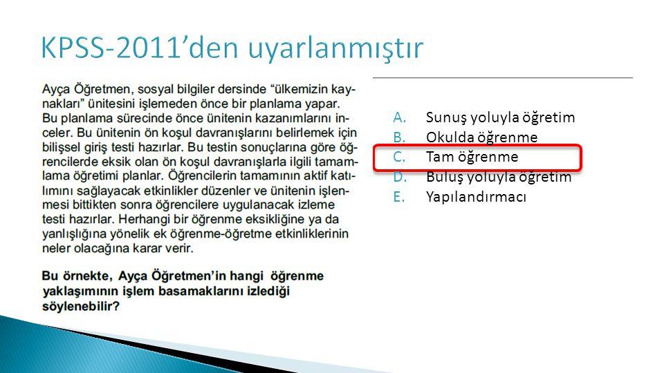 KPSS-2011'den uyarlanmıştır