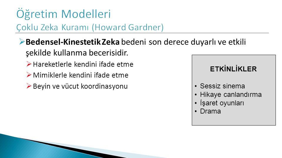 Öğretim Modelleri Çoklu Zeka Kuramı (Howard Gardner)