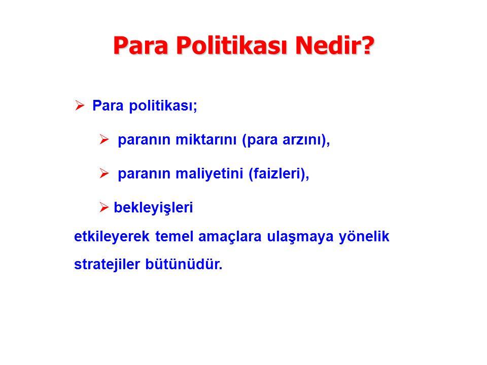 Para Politikası Nedir Para politikası;