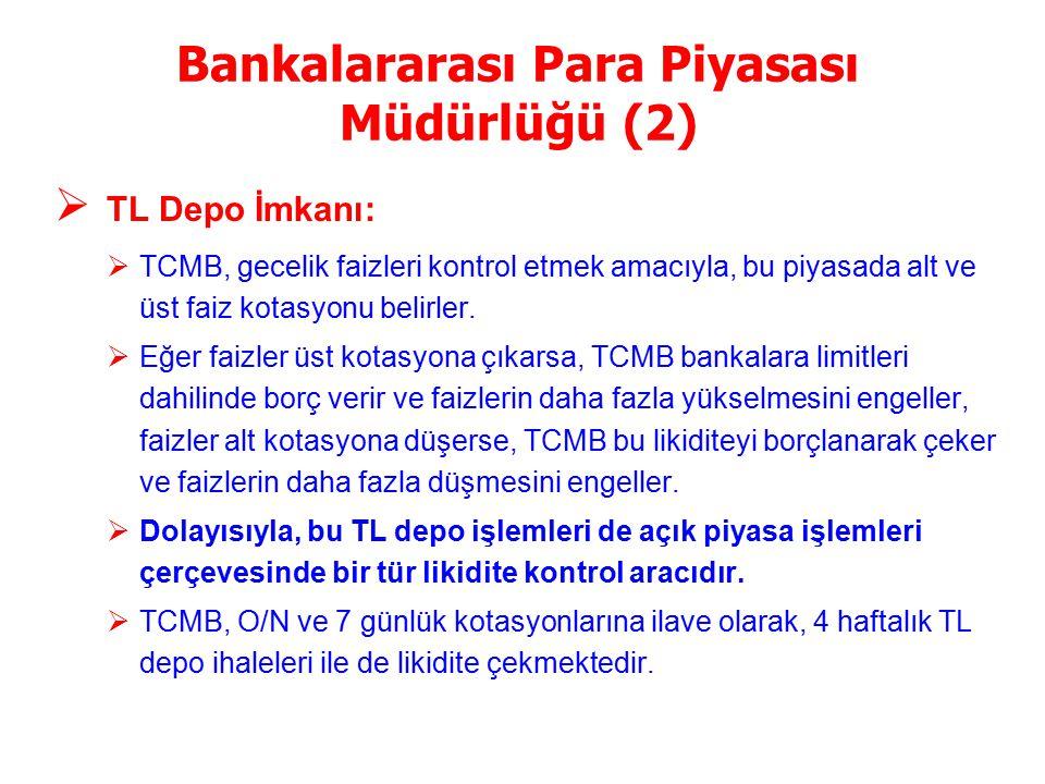 Bankalararası Para Piyasası Müdürlüğü (2)