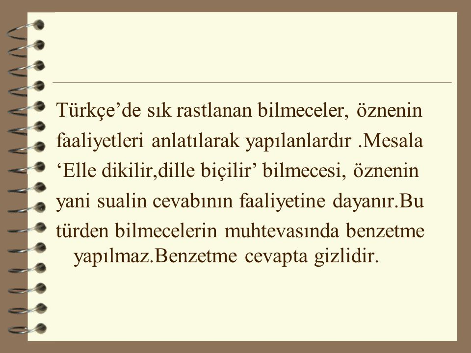 Türkçe'de sık rastlanan bilmeceler, öznenin
