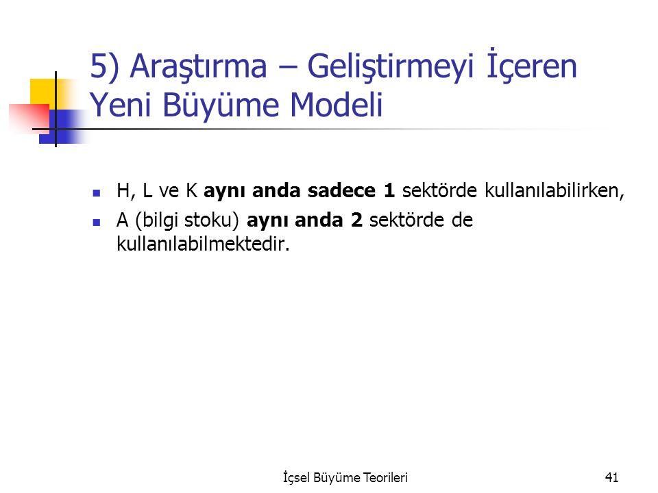 5) Araştırma – Geliştirmeyi İçeren Yeni Büyüme Modeli