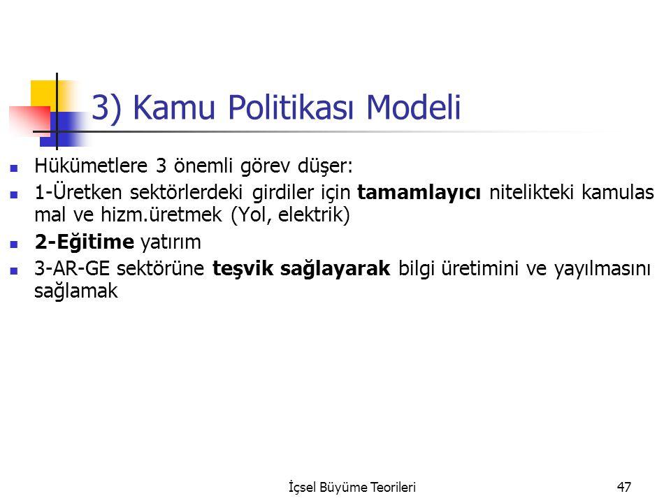 3) Kamu Politikası Modeli