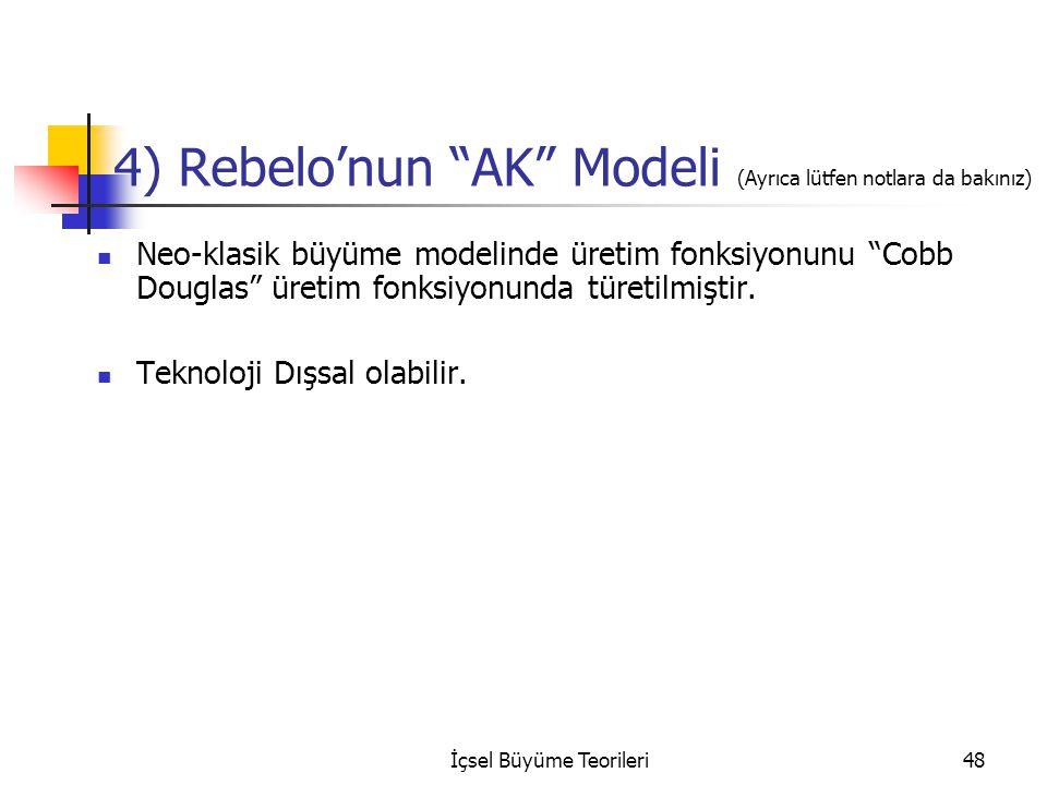 4) Rebelo'nun AK Modeli (Ayrıca lütfen notlara da bakınız)