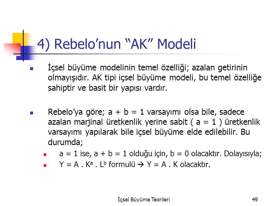 4) Rebelo'nun AK Modeli