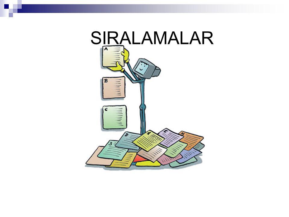 SIRALAMALAR