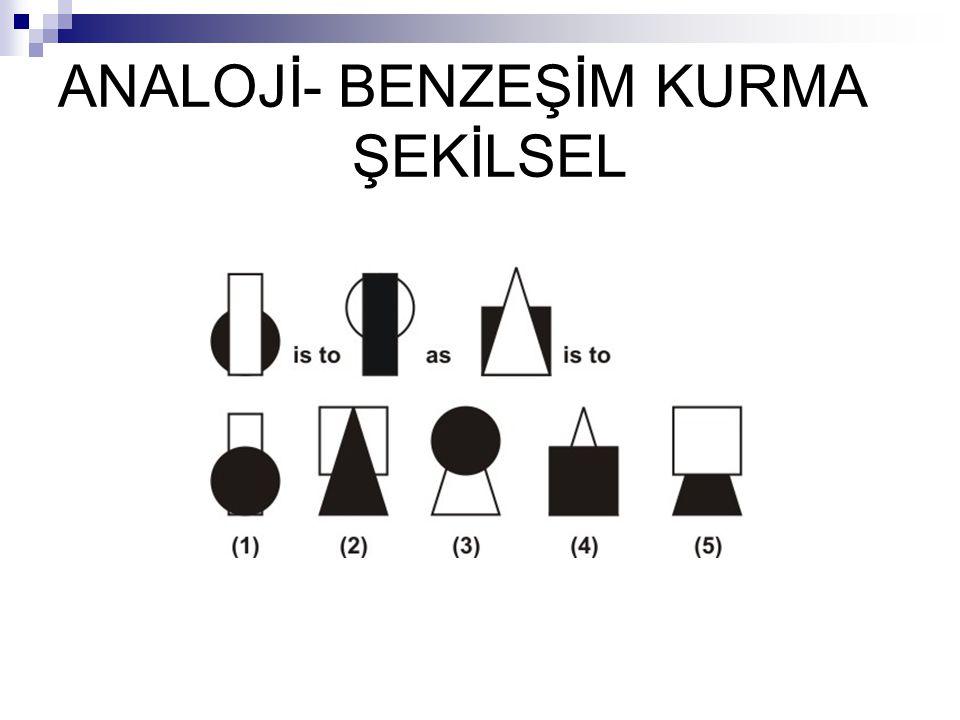 ANALOJİ- BENZEŞİM KURMA ŞEKİLSEL