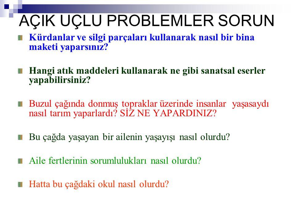 AÇIK UÇLU PROBLEMLER SORUN