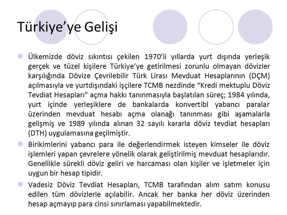 Türkiye'ye Gelişi