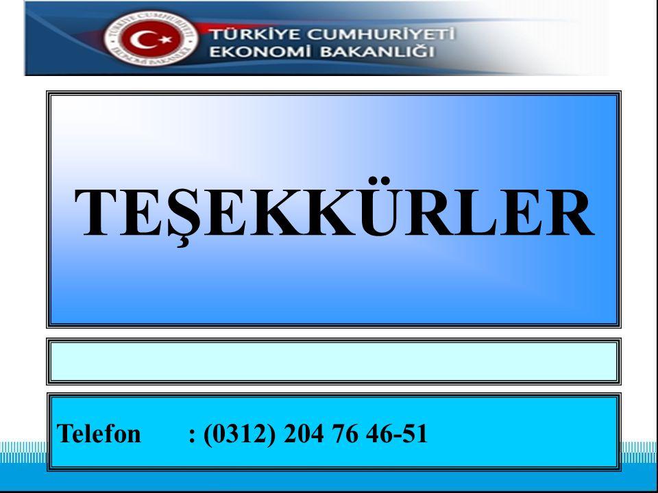 TEŞEKKÜRLER Telefon : (0312) 204 76 46-51