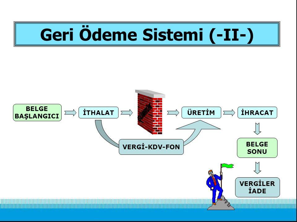 Geri Ödeme Sistemi (-II-)