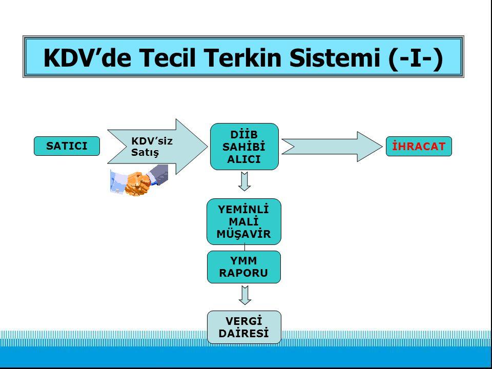 KDV'de Tecil Terkin Sistemi (-I-)